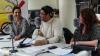 Txemi del Olmo con la presidenta de Zirzira