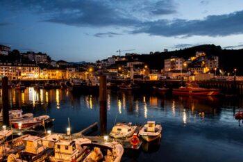 Luarca, Asturias, Puerto de noche