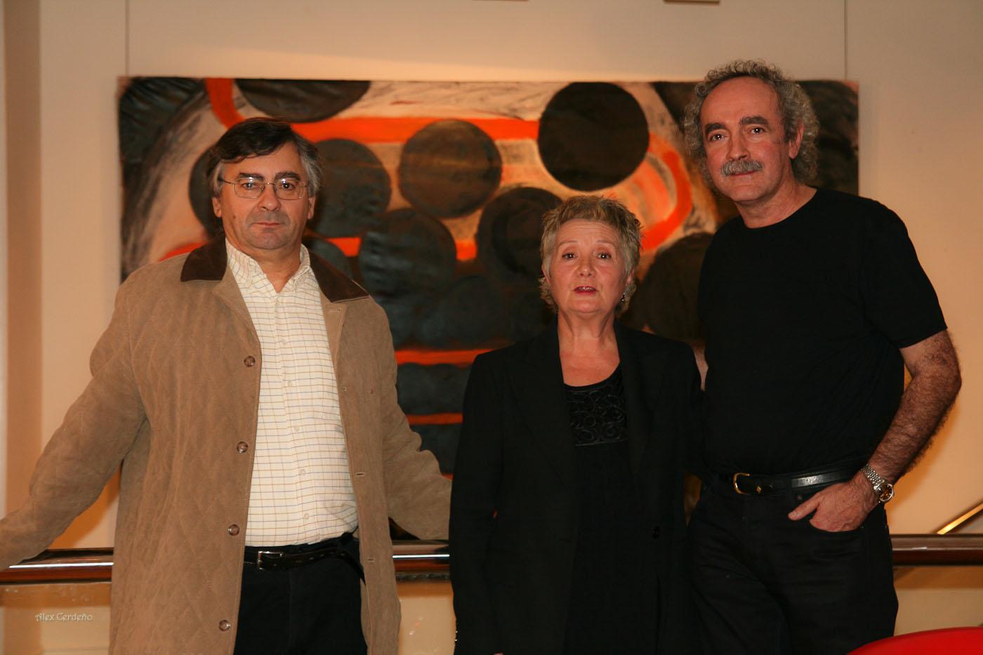 Ines Medina, Koldo Etxebarria, y Alex Cerdeño,