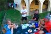 Grupo de peregrinos en Lourenza