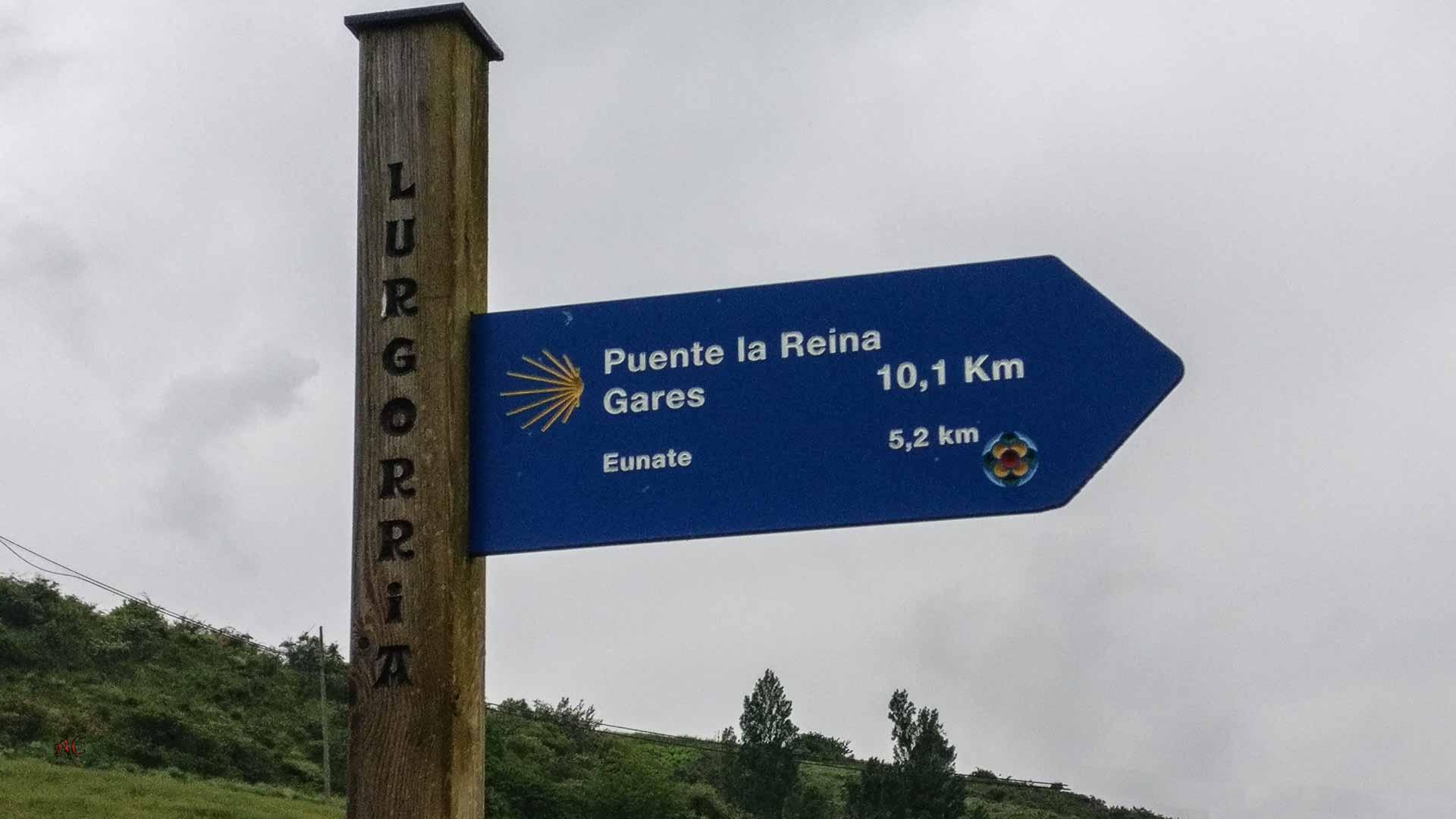 Tiebas-Puente la Reina. Camino Aragonés