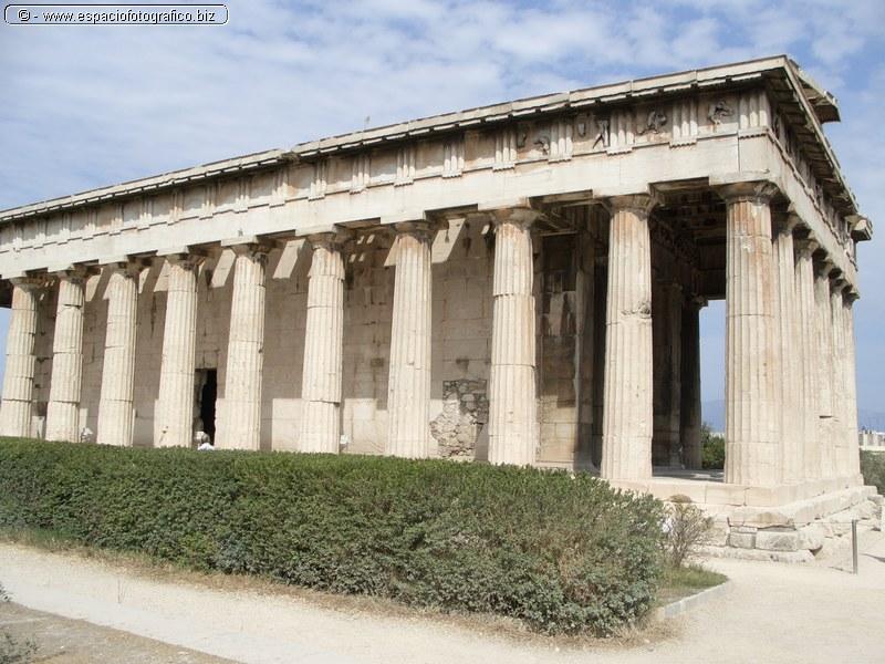 Columnatas del templo Teseion