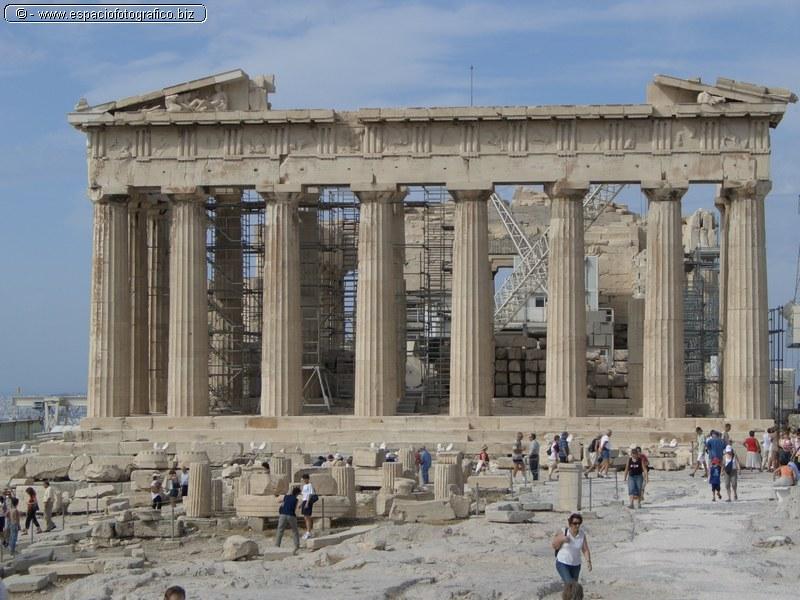El Partenon de la Acropolis de Atenas