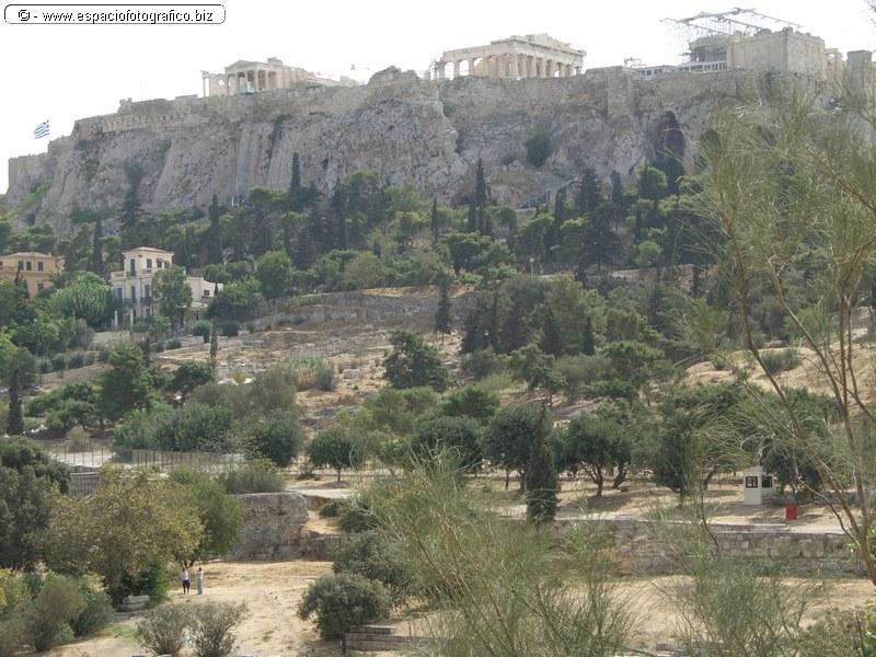 Vista General del Erecteion y el Partenon