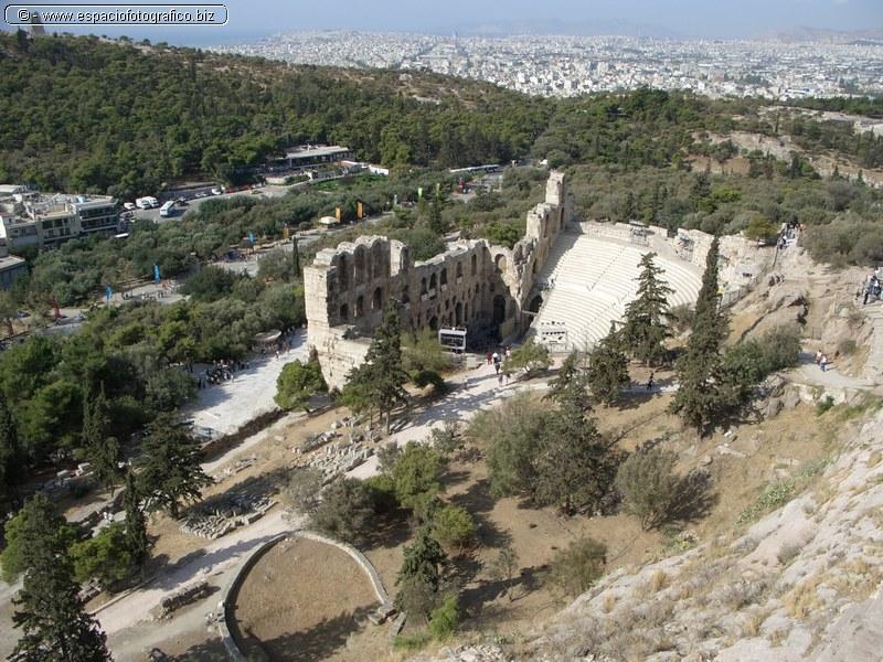 Vista General del Odeon de Herodes Atico o Herodion