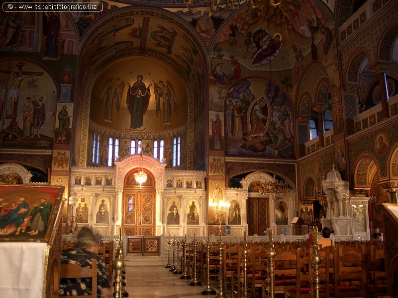 Interior de una Iglesia Ortodoxa