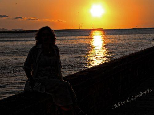 Getxo puesta de sol