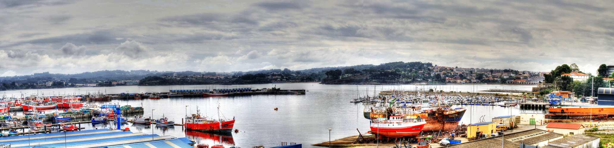Una panorámica del puerto de la Coruña