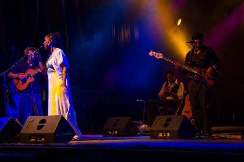 Concierto de Nancy Vieira en la Aste Nagusia Bilbaina 2013.