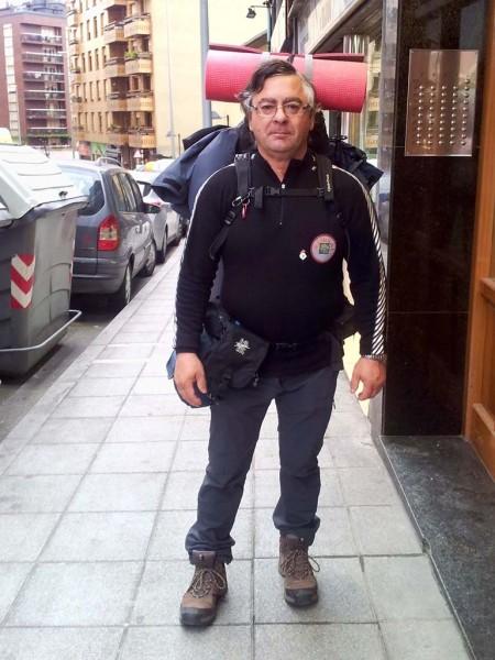 Alex salida para el Camino de Santiago