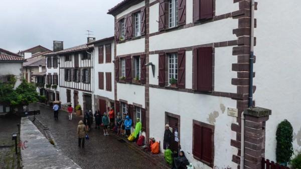 De espera bajo la Lluvia en Saint Jean de Pied de Port